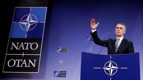 NATO-Generalsekretär Jens Stoltenberg, während eines Treffens der NATO-Verteidigungsminister in Brüssel, Belgien; 27 Oktober 27, 2016