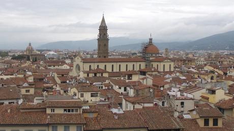 Blick auf die Altstadt von Florenz, die 1982 von der UNESCO zum Weltkulturerbe erklärt wurde. Florenz, Italien, 16. Oktober, 2014.