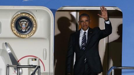 U.S Präsident Barack am Flughafen Tegel. Berlin, Deutschland, 16. November, 2016.