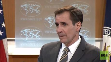 John Kirby, Sprecher des US-Außenministeriums, gingen bei einer Pressekonferenz die Pferde durch.