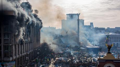 Ukrainische Nationalisten kündigten neuen Maidan an (Archivbild 2014)