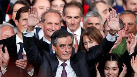 Der französische Ex-Premierminister François Fillon während einer Wahlkampfveranstaltung, Paris, Frankreich, 18. November 2016