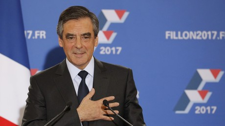 Der Präsidentschaftskandidat der Konservativen, François Fillon, bei seiner Siegesrede. Paris, Frankreich, 27. November 2016.