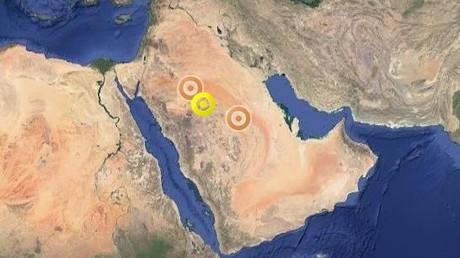 Gefahrenstufe gelb: Schnee in Saudi-Arabien