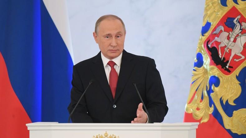 """Wladimir Putin: """"Russland muss Aufgaben unter komplizierten Bedingungen lösen"""""""