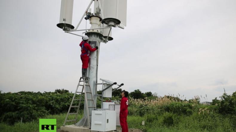 """Ingenieur stellt neue Erfindung vor: """"Ein Taifun liefert Strom für 50 Jahre in Japan"""""""