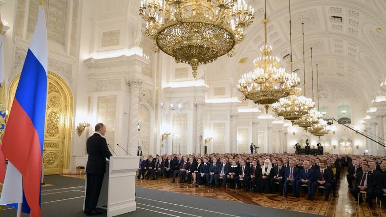 Putin in seiner Jahresbotschaft: Russland braucht Ordnung zu Hause und Freundschaft im Ausland