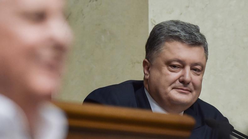 Ukrainischer Abgeordneter: Poroschenko ist Ukraines größter Erpresser und korrumpiertester Politiker
