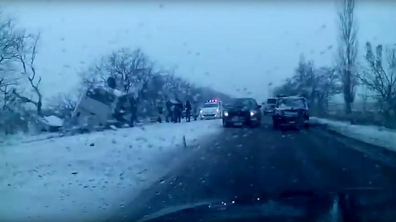 12 Menschen sterben bei schwerem Verkehrsunglück in Russland