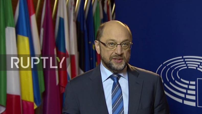 Live: Scheidender Präsident des EU-Parlaments Martin Schulz gibt Pressekonferenz