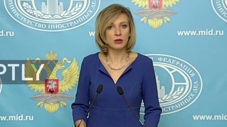 Live: Maria Sacharowa gibt Pressebriefing zu aktuellen Themen der internationalen Politik