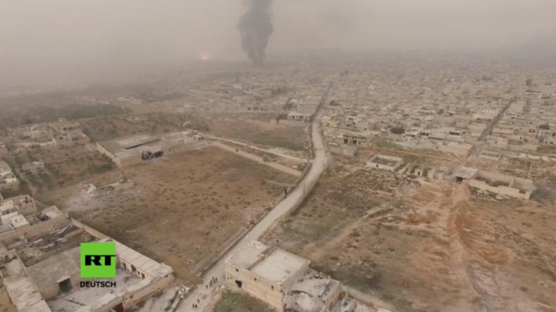 Aleppo: Alles muss neu aufgebaut werden - Drohnenaufnahme befreiter Gebiete zeigt massive Zerstörung
