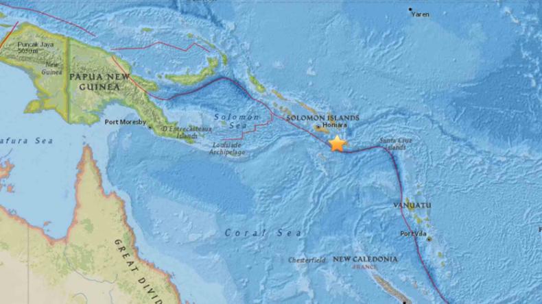 Tsunami-Warnung: Erdbeben der Stärke 8,0 vor den Salomonen