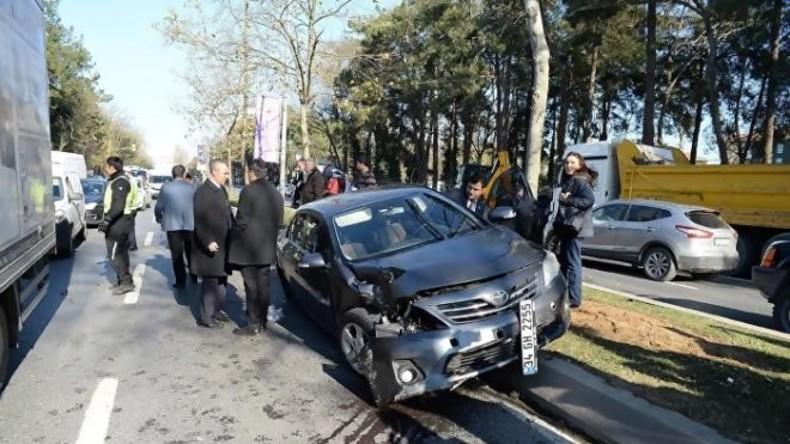 Eskorte des türkischen Präsidenten in Istanbul in Unfall verwickelt