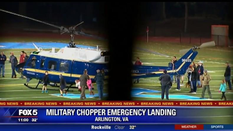 Landung statt Rugby: US-Militärhubschrauber landet auf Spielfeld