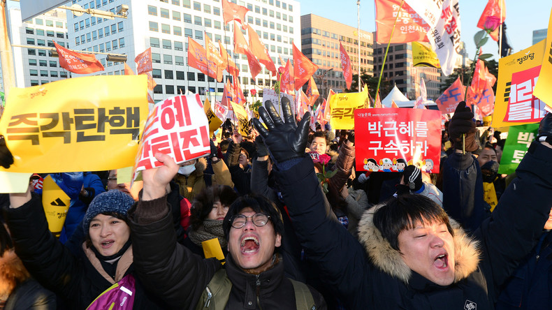 Südkorea: 500.000 Menschen unterstützen Amtsenthebung von Park Geun-hye