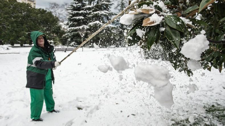 Sotschi kämpf gegen Schnee
