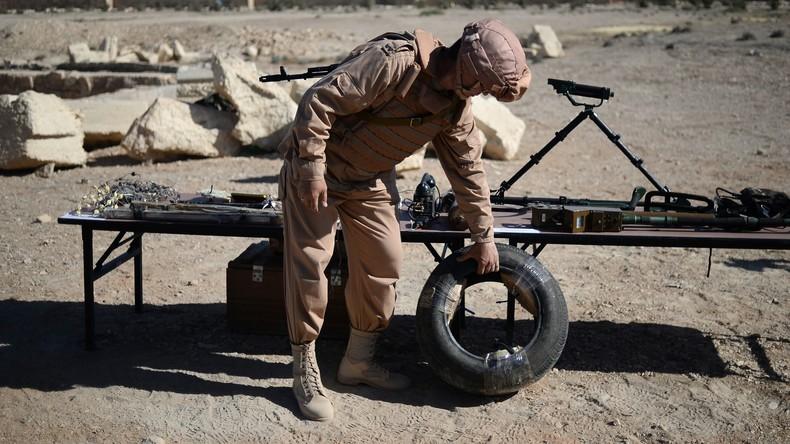 Russische Militärpioniere entschärfen 1.340 Sprengsätze in Aleppo