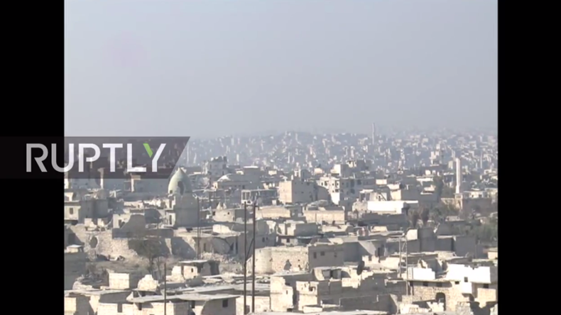 """Live aus Aleppo nach Rückeroberung des Schlüssel-Bezirks """"Sheikh Saeed"""""""