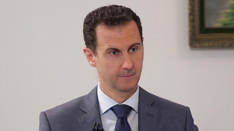 """Im Interview mit RT kritisierte der Präsident der Arabischen Republik Syrien, Baschar Al-Assad, die einseitige Reaktion des Westens auf den Angriff der Terrormiliz """"Islamischer Staat"""" gegen die antike Stadt Palmyra."""