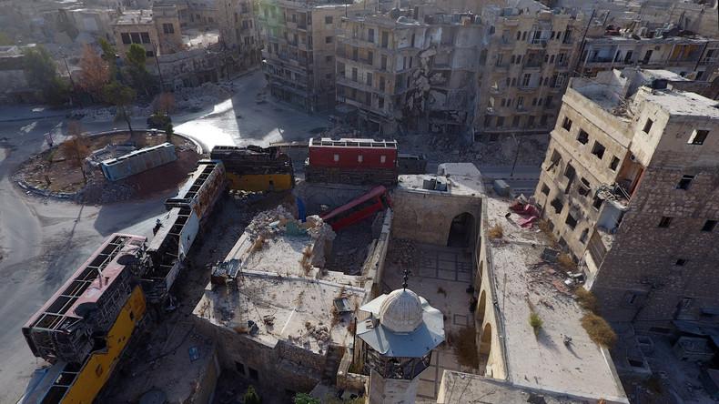 Ohne Kommentar: Bedrückender Drohnenflug über Aleppo