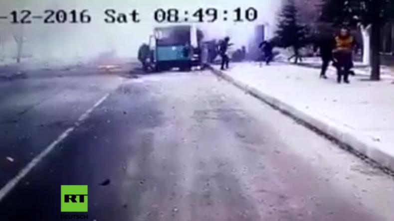 Wieder Anschlag in der Türkei: Busexplosion mit Kamera eingefangen