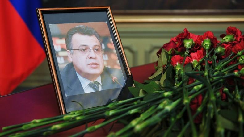 Leiche des getöteten russischen Botschafters wird zur Überführung nach Russland vorbereitet