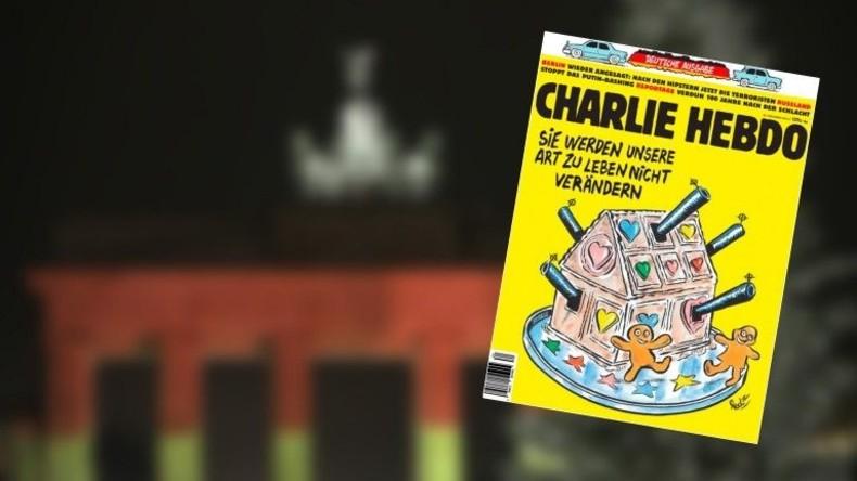 Deutsche Ausgabe von Charlie Hebdo widmet Cover dem Attentat von Berlin