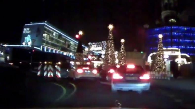 Dashcam-Video vom Moment des Attentats auf den Berliner Weihnachtsmarkt veröffentlicht