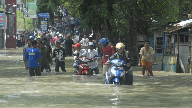 Mehr als 100.000 Indonesier verlassen ihre Häuser wegen Überschwemmung