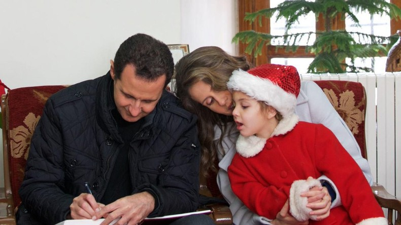 Weihnachten in Syrien: Baschar al-Assad besucht Waisenhaus nahe Damaskus