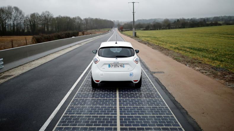 Erste Solarstraße der Welt in Frankreich eröffnet