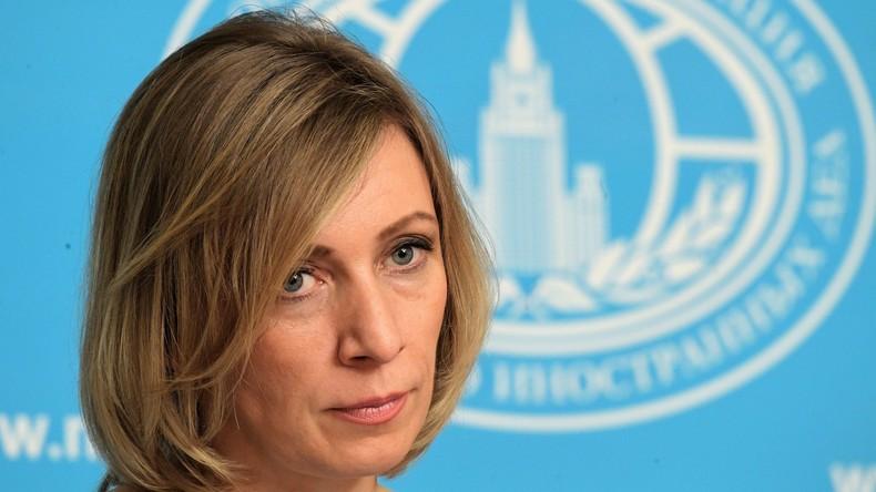 """""""Wir machen euch zum Aggressor"""" - Maria Sacharowa über den Moralverfall der westlichen Diplomatie"""