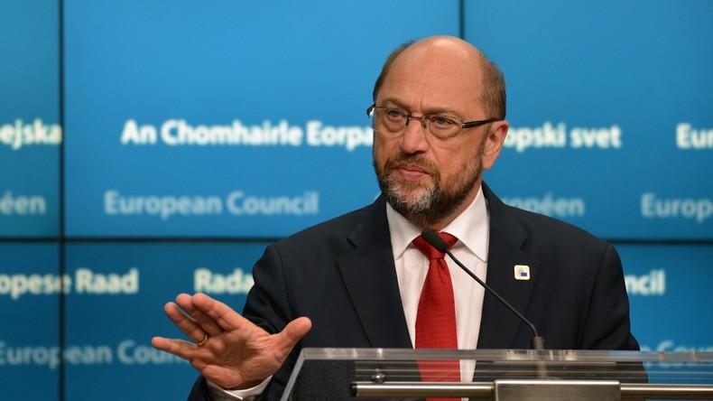 EU-Parlamentspräsident Martin Schulz gibt Rennen um SPD-Kanzlerkandidatur auf