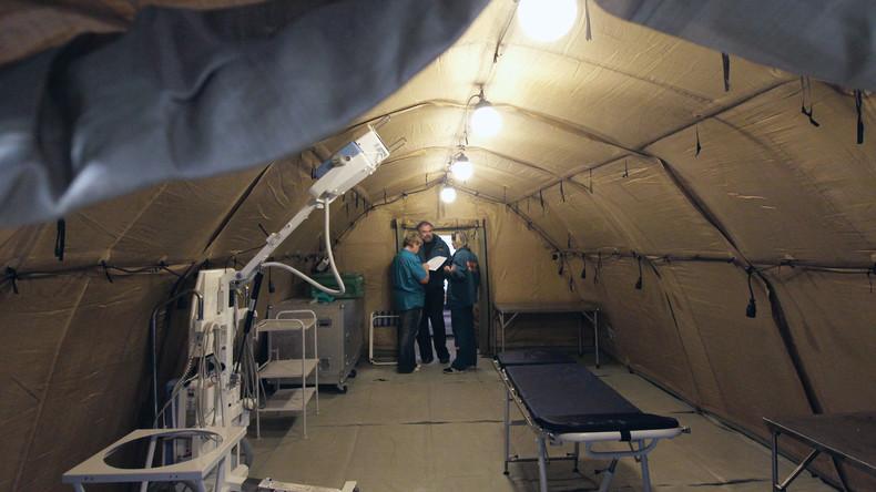 Russlands Katastrophenschutzministerium schenkt syrischen Ärzten ein Feldlazarett