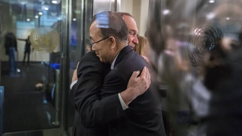 Ban Ki-moon nimmt Abschied vom UN-Hauptquartier in New York