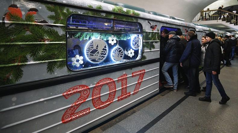 Die Moskauer U-Bahn arbeitet dieses Jahr die ganze Silvesternacht hindurch