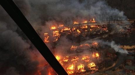 USA: Waldbrände in Tennessee, mindestens elf Tote