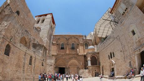 Die Kirche vom heiligen Grab in Jerusalem.