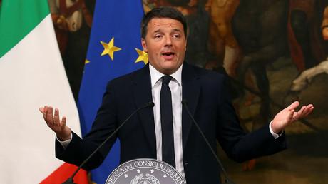 Matteo Renzi nach Bekanntgabe der Ergebnisse des Referendums