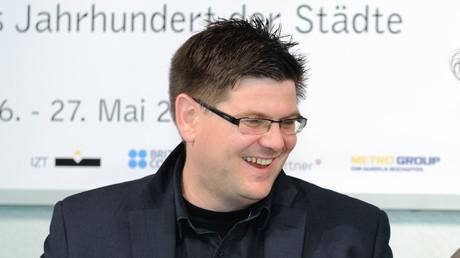 Der Berliner Stadtsoziologe Andrej Holm auf einem Kongress, Mai 2011.