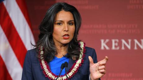 Tulsi Gabbard, Abgeordnete der Demokraten aus Hawaii, kämpft gegen die Terrorfinanzierung aus US-Steuergeldern.