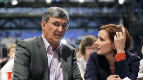 Die Linken-Vorsitzenden Bernd Riexinger (L) und Katja Kipping (R)