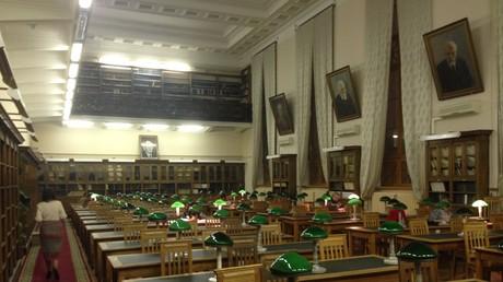 Der Lesesaal der Bibliothek der russischen Wissenschaftsakademie.