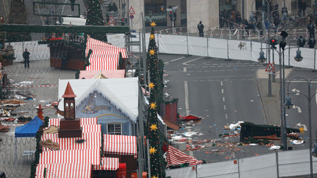 Der abgesperrte Bezirk der Berliner Tragödie.