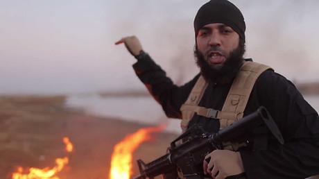 Ein Screenshot von dem IS-Video, welches die grausame Tat dokumentierte.