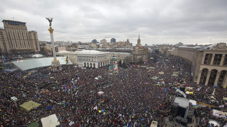 Demonstranten auf dem Maidan in Kiew