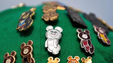Mischka, das Maskottchen der Olympischen Spiele von Moskau 1980, ist zu einem der Symbole der Sowjetnostalgie geworden.