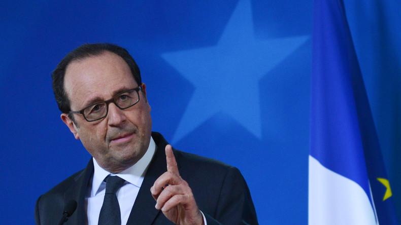 Frankreichs Präsident Hollande besucht französische Soldaten im Irak