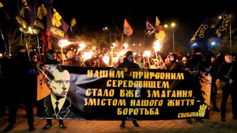 Ukraine: Tausende Nationalisten zelebrieren Geburtstag des Hitler-Kollaborateurs Stepan Bandera